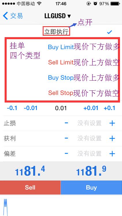 苹果版 —— 4. 交易操作