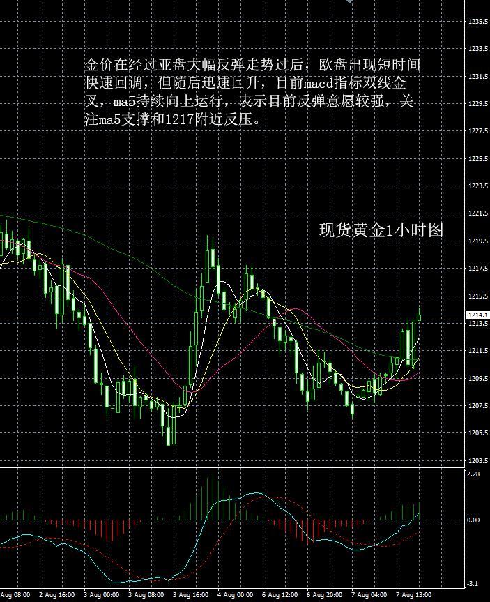 现货黄金走势分析操作建议2018 08 7晚评