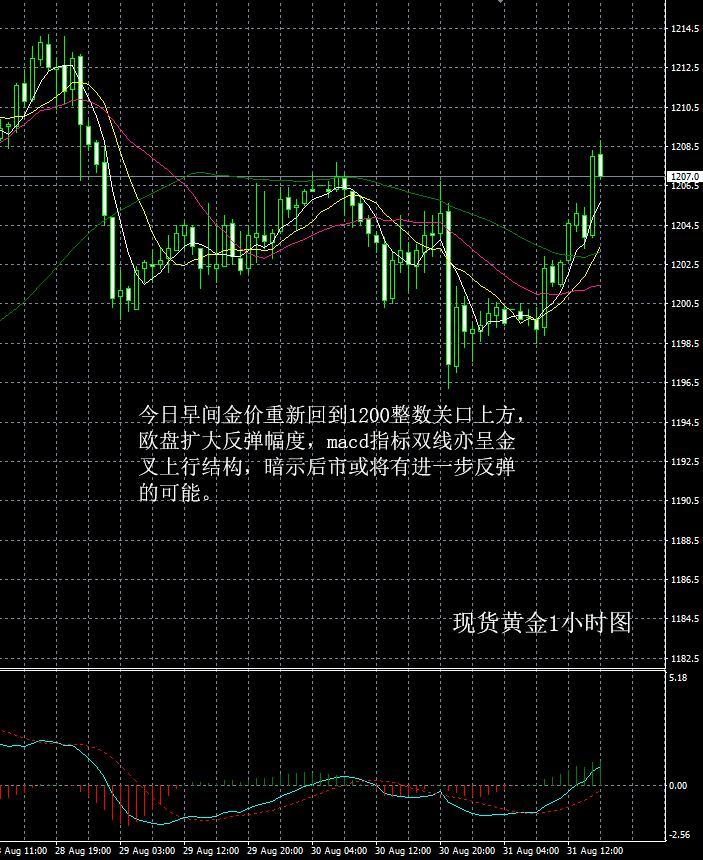 现货黄金走势分析操作建议2018 08 31晚评